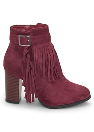 Shoe series side view Fringe Detail Booties