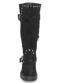 Front View Stud Detail Boots