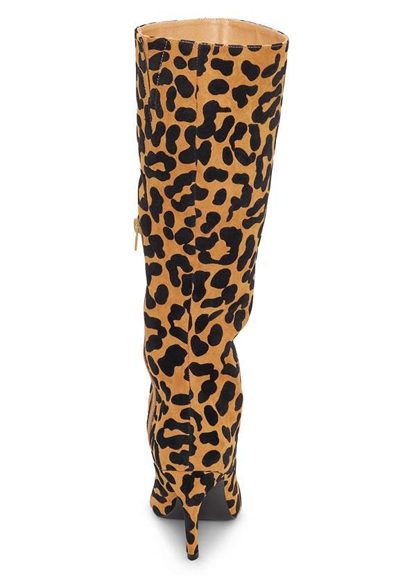 Shoe series back view Leopard Boots