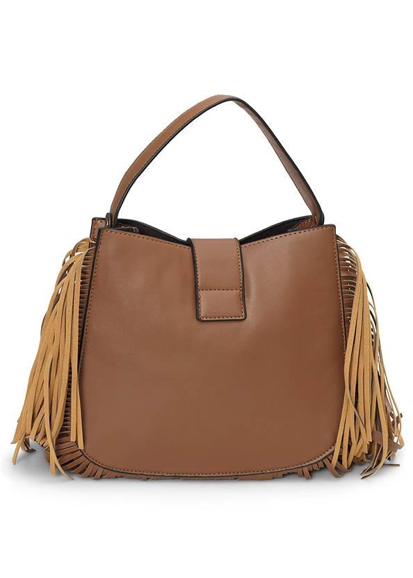 Back View Fringe Handbag