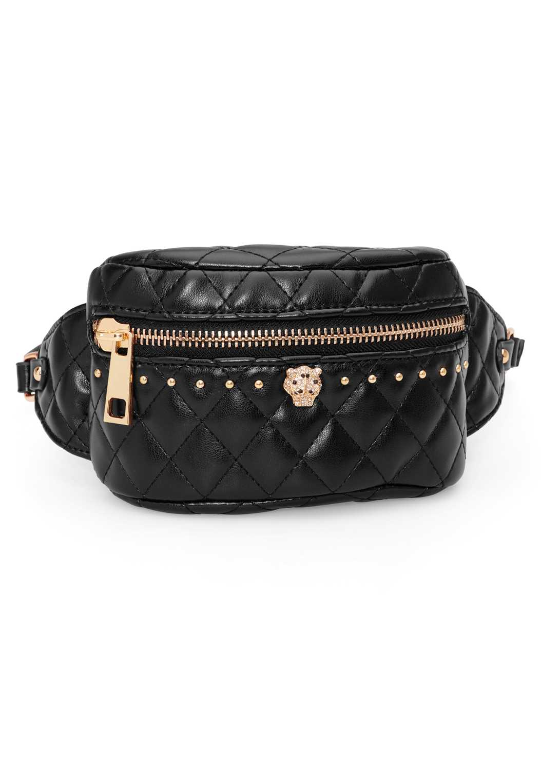 Quilted Belt Bag,Cold Shoulder Lounge Top,Faux Leather Pants
