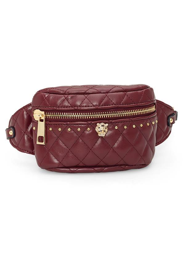 Front View Quilted Belt Bag