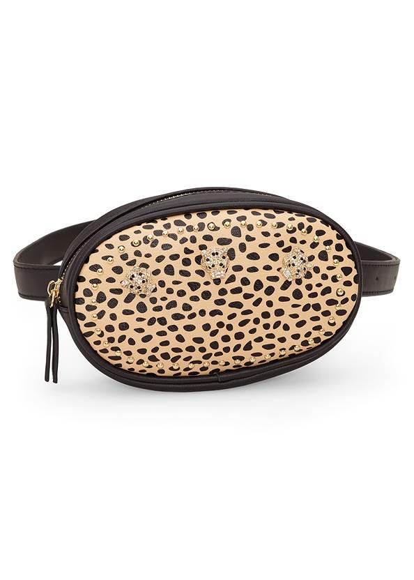 Print Belt Bag,Tiger Detail Earrings