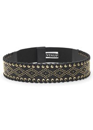 Front View Embellished Waist Belt