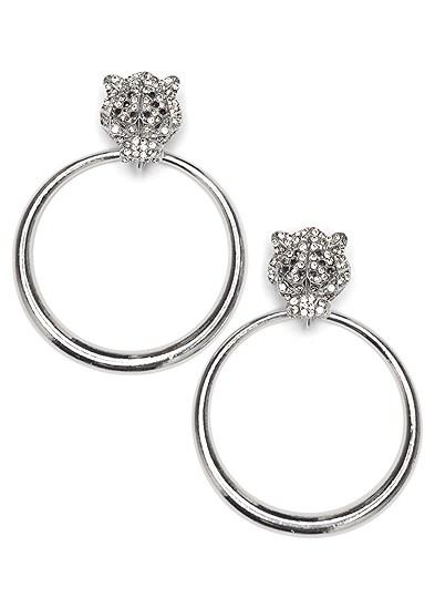 tiger detail earrings