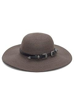 double buckle floppy hat