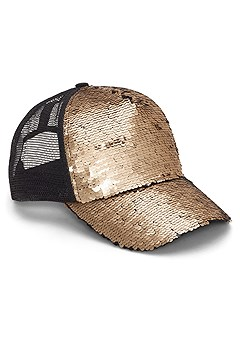 sequin detail baseball cap