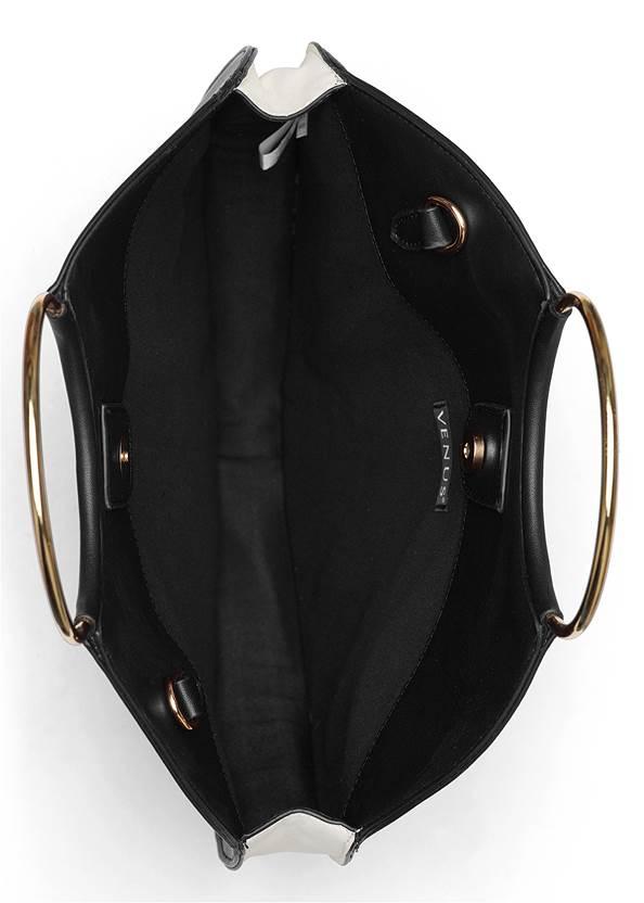 Flatshot open view Ring Detail Oversized Bag