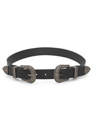 Flatshot  view Double Buckle Belt