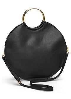 ring detail oversized bag