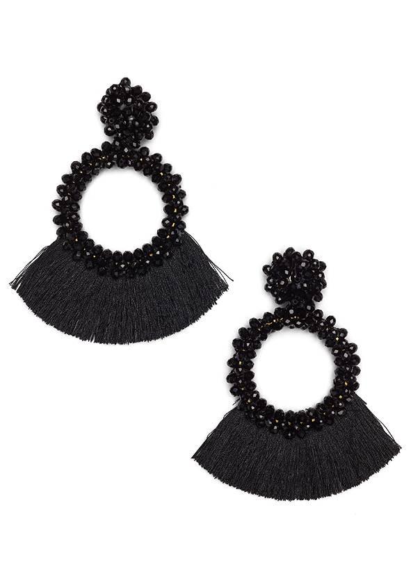 Beaded Tassel Earrings,Leopard Printed Dress,Faux Leather Lace Up Jacket