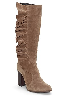 ruffle detail boots