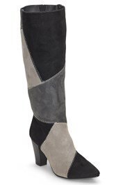 Front View Patchwork Boots