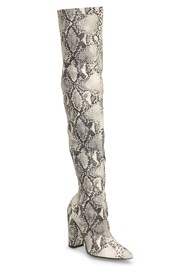 Front View Animal Print Boots
