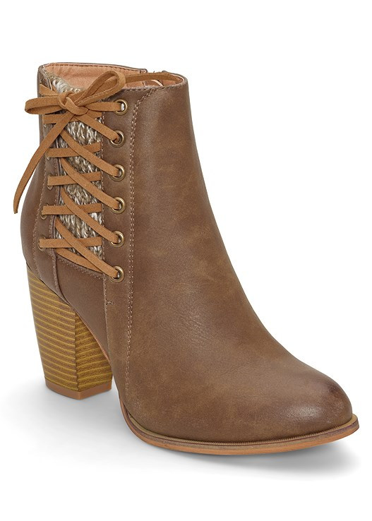 LACE UP DETAIL BOOTIE