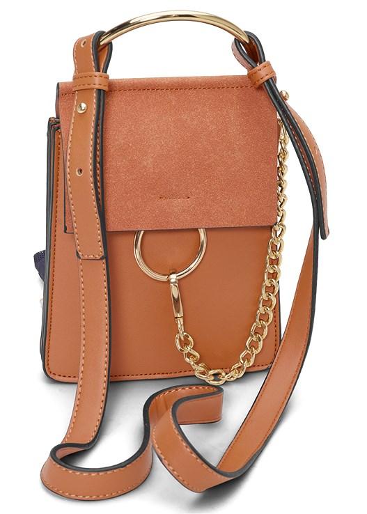 RING DETAIL BAG,DRAPE DETAIL DRESS,OPEN HEEL BOOTIES