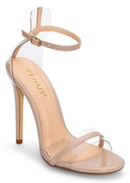 Front View Lucite Detail Heels