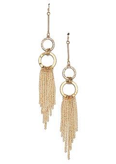 embellished fringe earrings