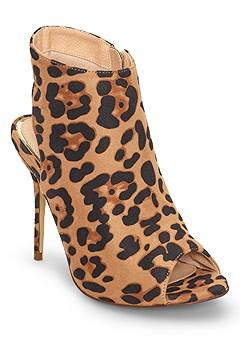 peep toe print heels