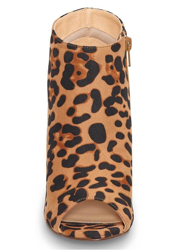 Shoe series front view Peep Toe Print Heels