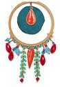 Alternate View Multi Color Fringe Earrings