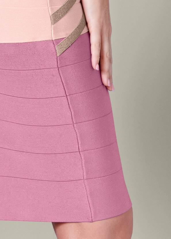 Detail back view Bandage Color Block Dress