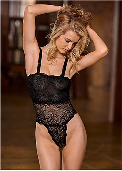 reversible lace bodysuit
