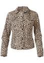 Ghost  view Leopard Print Denim Jacket