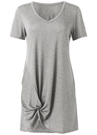 Ghost  view Knotted Casual Dress
