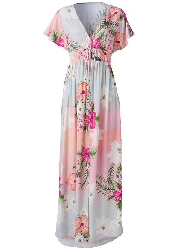 Ghost  view Floral Maxi Dress