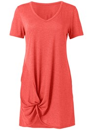 Detail front view Knotted Casual Dress