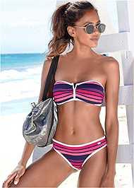 Front View Bandeau Bikini Top