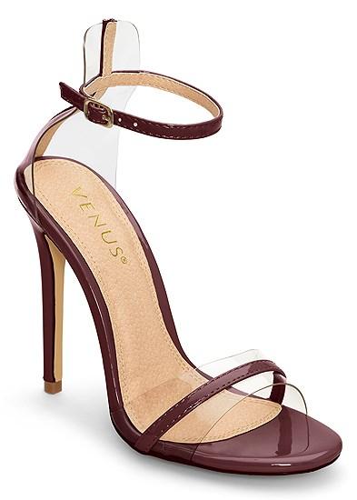 Lucite Detail Heels