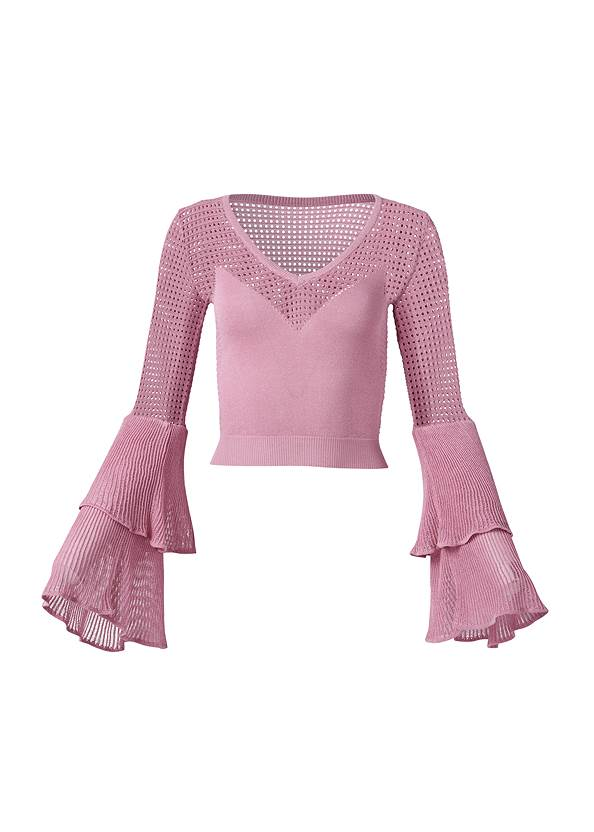 Ghost  view Tiered Sleeve Sweater