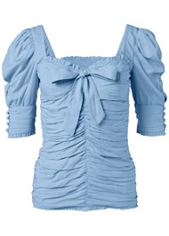 Alternate View Ruched Sweetheart Top