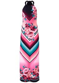 Alternate View Geometric Floral Print Maxi