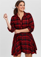 plus size plaid high low dress