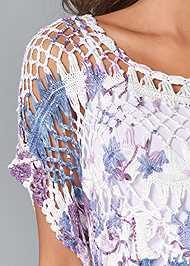 Alternate View Tie Dye Crochet Sweater