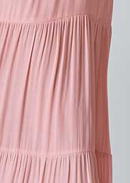 Detail front view Tiered Maxi Dress
