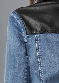 Detail back view Mixed Media Moto Jacket