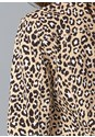 Detail back view Leopard Print Denim Jacket