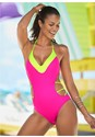 Cropped front view Color Block Monokini