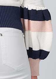 Detail back view Off Shoulder Sweater