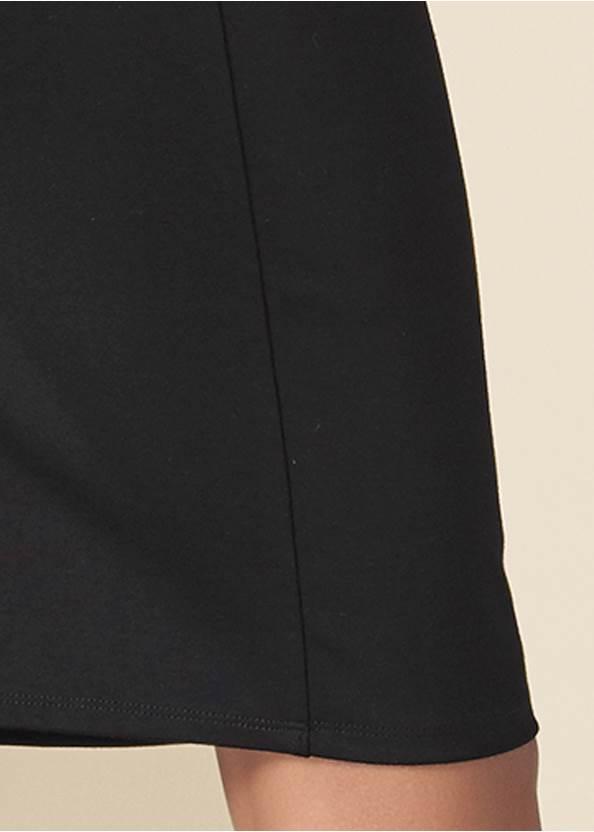 Detail back view Polka Dot Twofer Dress
