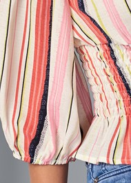 Detail front view Off The Shoulder Stripe Top