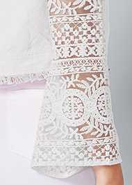 Detail back view Lace Sleeve Cropped Jacket