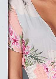 Detail front view Floral Maxi Dress