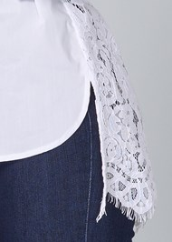 Alternate View Lace Back Blouse