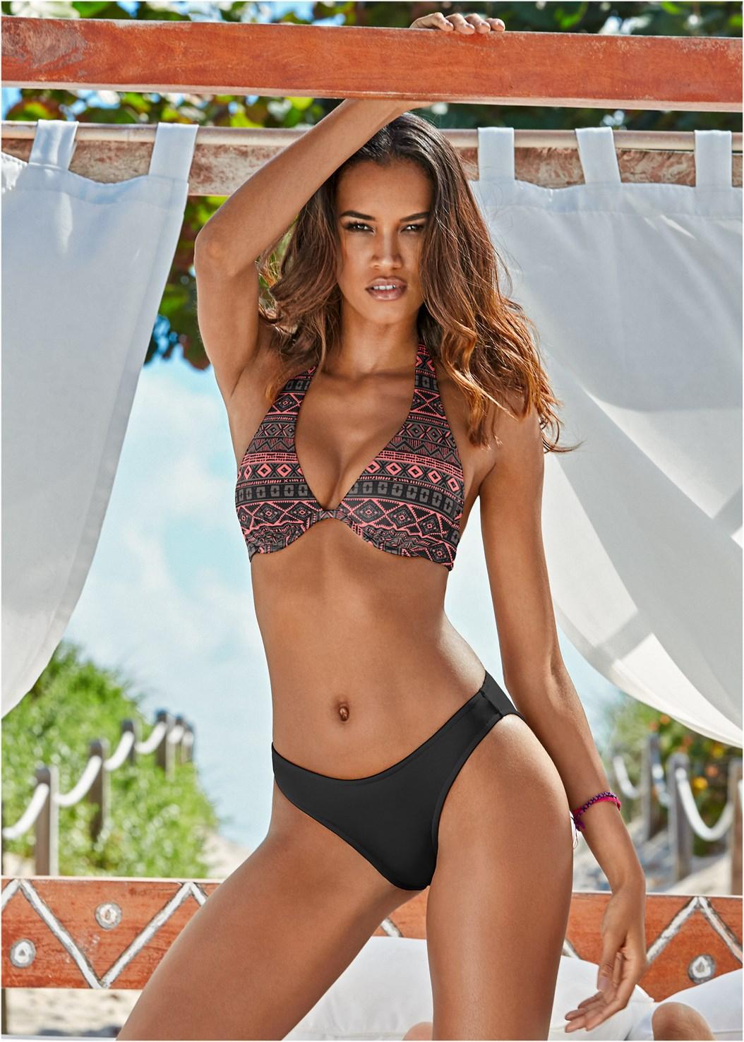 Scoop Front Classic Bikini Bottom ,Underwire Halter Bikini Top,Charming Full Bra Top,Mesh High Neck Bikini Top,Tank Blouson Tankini