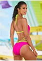 Cropped back view Color Block Monokini